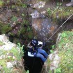 Cave rappel